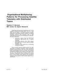 Organizational Multiplexing: Patterns for Processing Satellite ...