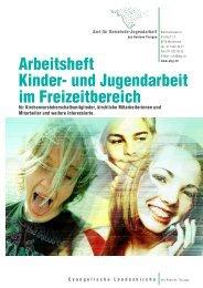 Arbeitsheft Kinder- und Jugendarbeit im Freizeitbereich - Amt für ...