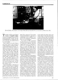 IN MEMORIAM Harold Lindsay, chief designer of the - Audio ...