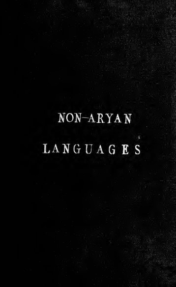 On the non-Aryan languages of India