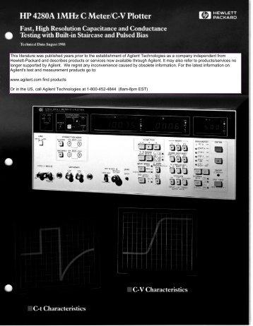 HP 4280A 1MHz C Meter / C-V Plotter - TekNet Electronics