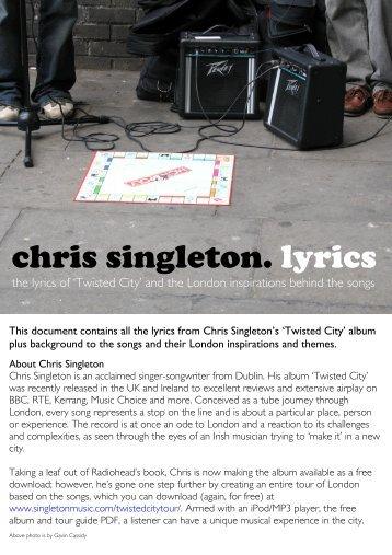 chris singleton. lyrics