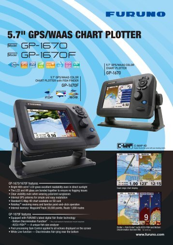 "5.7"" GPS/WAAS CHART PLOTTER - Furuno"