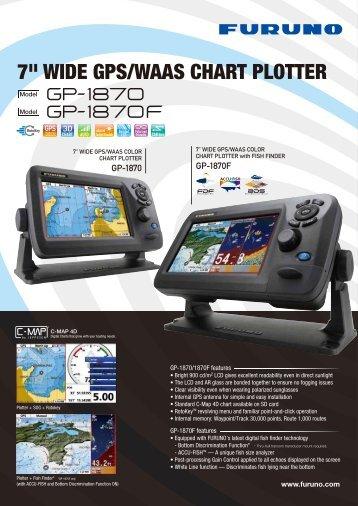 "7"" WIDE GPS/WAAS CHART PLOTTER - Furuno"