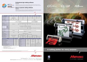 A cutting plotter for every purpose... - Mimaki