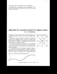 Algorithm for computer control of a digital plotter