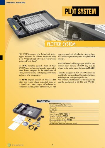 PLOTTER SYSTEM - CEMBRE