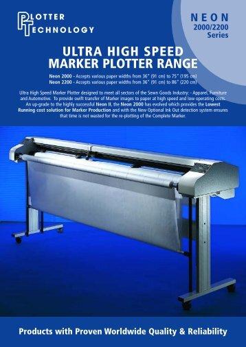 ultra high speed marker plotter range - Plotter Para Confección