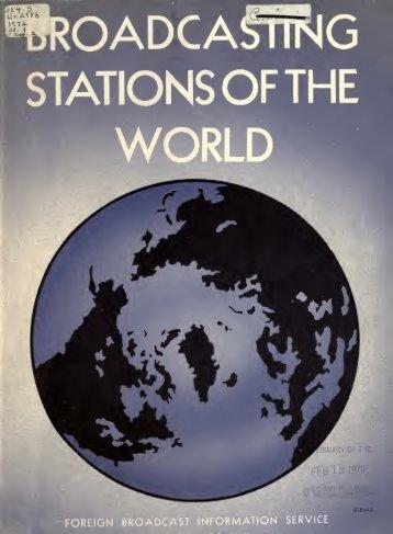 Part I - American Radio History