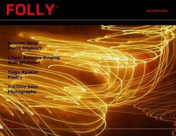 Autumn Song Dante Alighieri I Hear America Singing Walt ... - Folly
