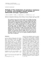 Analysis of the mechanism of quinolone resistance in nalidixic acid ...