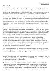 PRESS RELEASE June 2012 Applebaum - Antibiotic Action