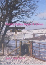 Jan/Feb - Piddle Valley Community Website