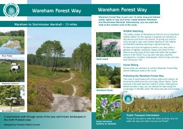 Wareham Forest Way Wareham Forest Way - Dorsetforyou.com