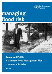 Frome & Piddle CFMP Draft Plan summary - Environment Agency