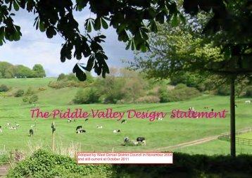 Village Design Statement 2004 - Piddle Valley Community Website