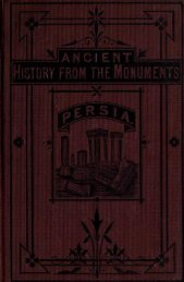 Ancient History in Persia, Vaux - The Search For Mecca