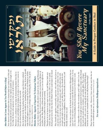 download pdf - Shul Respect