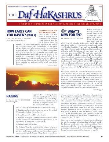 Daf 17-5.indd - OU Kosher Certification and Information