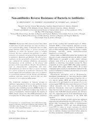 Non-antibiotics Reverse Resistance of Bacteria to Antibiotics - In Vivo