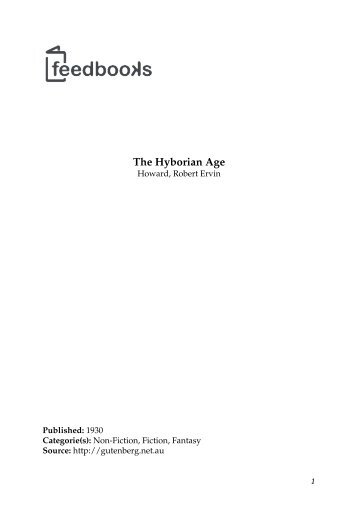 The Hyborian Age - Maybe You Like It