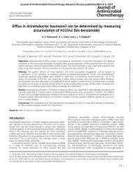 Efflux in Acinetobacter baumannii can be determined by measuring ...