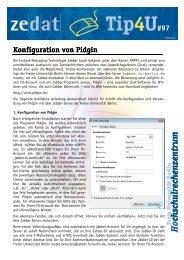 Tip4U#97 - Zedat - Freie Universität Berlin