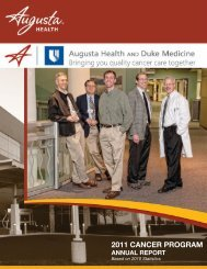2011 Cancer Program - Augusta Health