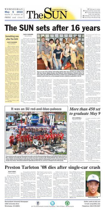 May 5, 2010, Vol. 17 No. 30 - Shenandoah University