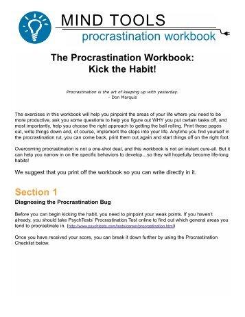 Procrastination Workbook
