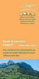 Bando di concorso DYNALP2 - Regione Malcantone