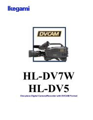 One-piece Digital Camera/Recorder with DVCAM Format - Ikegami