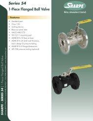 Series 54 1-Piece Flanged Ball Valve - Sharpe® Valves