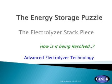 The Electrolyzer Stack Piece