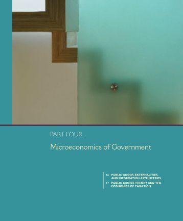 Chapter 16: Public Goods, Externalities, and Information Asymmetries
