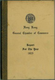 1925 - The Hong Kong General Chamber of Commerce