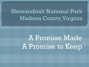 Shenandoah National Park - Madison County Virginia Government ...