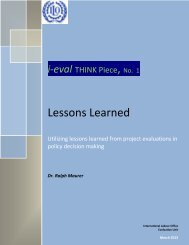 i-eval THINK Piece, No. 1 Lessons Learned Lessons Learned ...