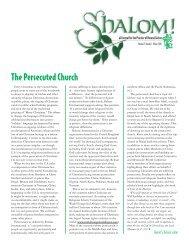 Winter 2007, The Persecuted Church - Brethren in Christ Church