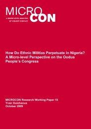 How Do Ethnic Militias Perpetuate in Nigeria? A Micro ... - MICROCON