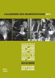 CALENDRIER DES MANIFESTATIONS 2011 - Office de tourisme du ...