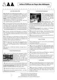 avril 2009 - Office de tourisme du Pays des Abbayes