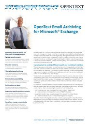 Open Text Email Archiving for Microsoft Exchange - ImageWare AG