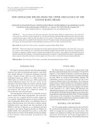 New ostracode species from the Upper Cretaceous of - Sociedade ...
