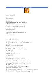 Carte des menus - Gate24.ch