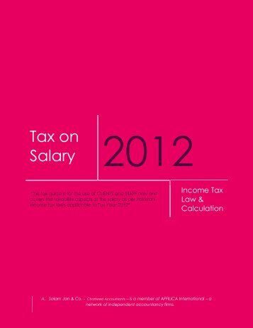 ASC Salary Brochure TY 2012 - A. Salam Jan & Co.