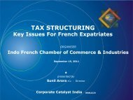 TAX STRUCTURING - Corporate Catalyst India