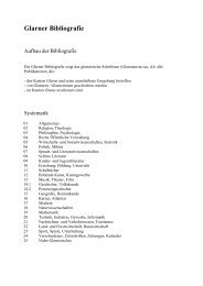 Glarner Bibliografie - Kanton Glarus