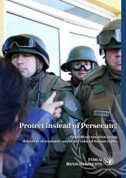 Protect instead of Persecute! - Forum Menschenrechte