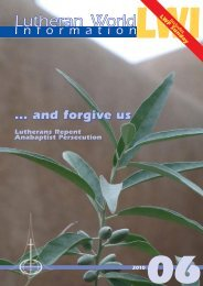 and Forgive Us - LWF Assembly